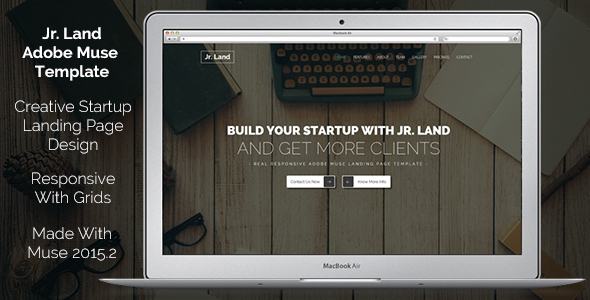Jr. Land Creative Landing Page Muse Template - Landing Muse Templates