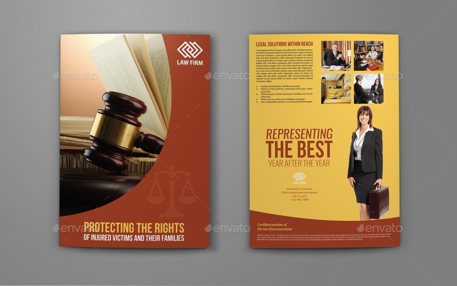 law firm brochure template - law firm bi fold brochure template by owpictures