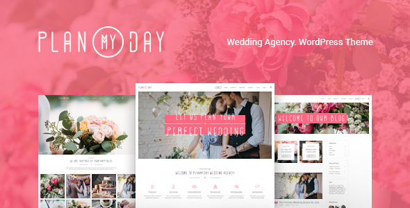 Plan My Day | Wedding / Event Planning Agency - Wedding WordPress