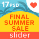 Final Summer Sale Slider - GraphicRiver Item for Sale