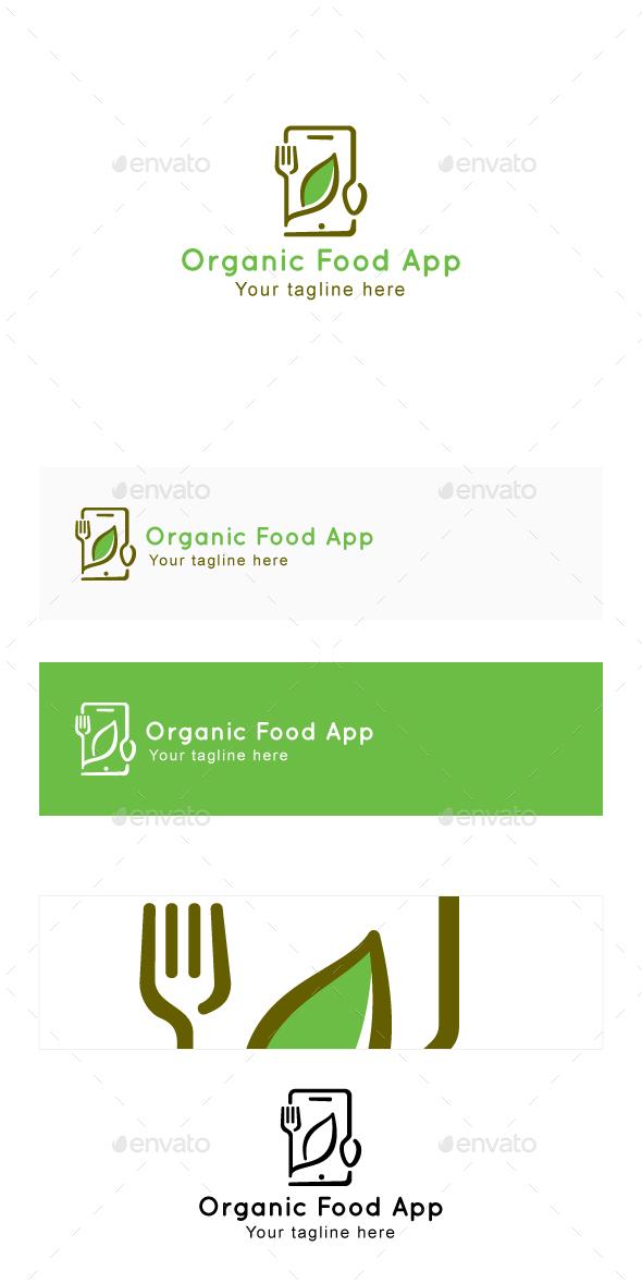 Organic Food App - Minimal Logo Template