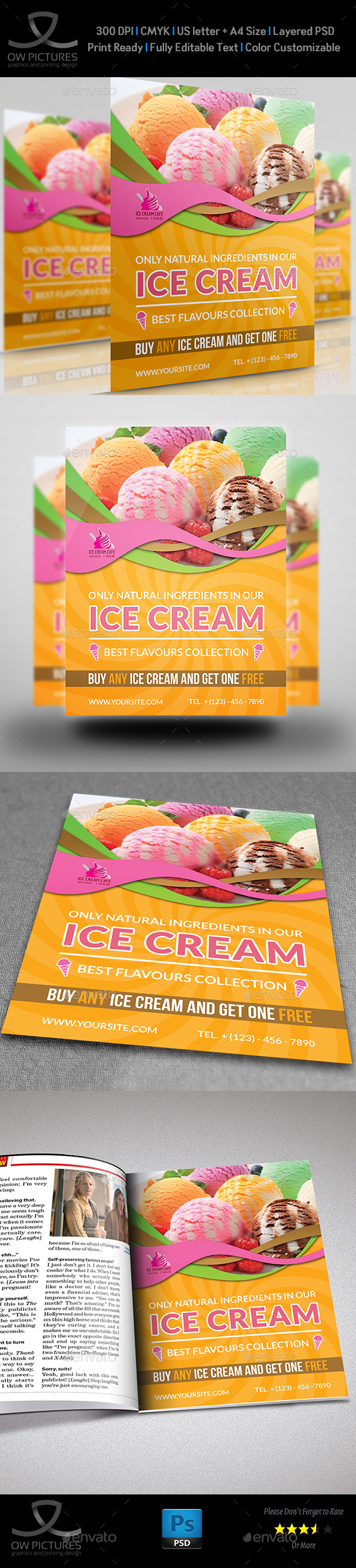 Ice Cream Flyer Template Vol.3