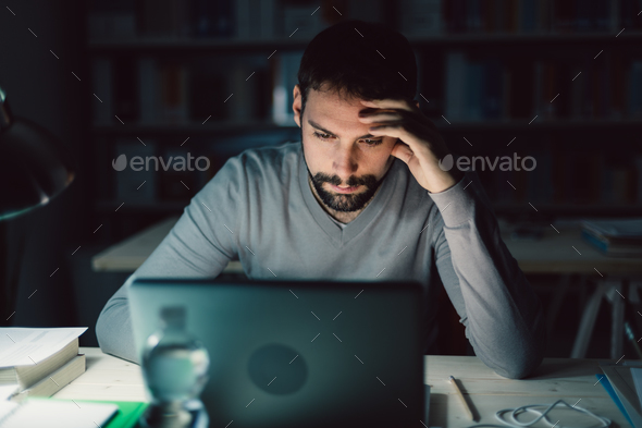 Working overtime - Stock Photo - Images