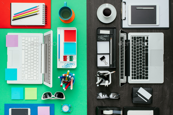 Customized office workspace - Stock Photo - Images