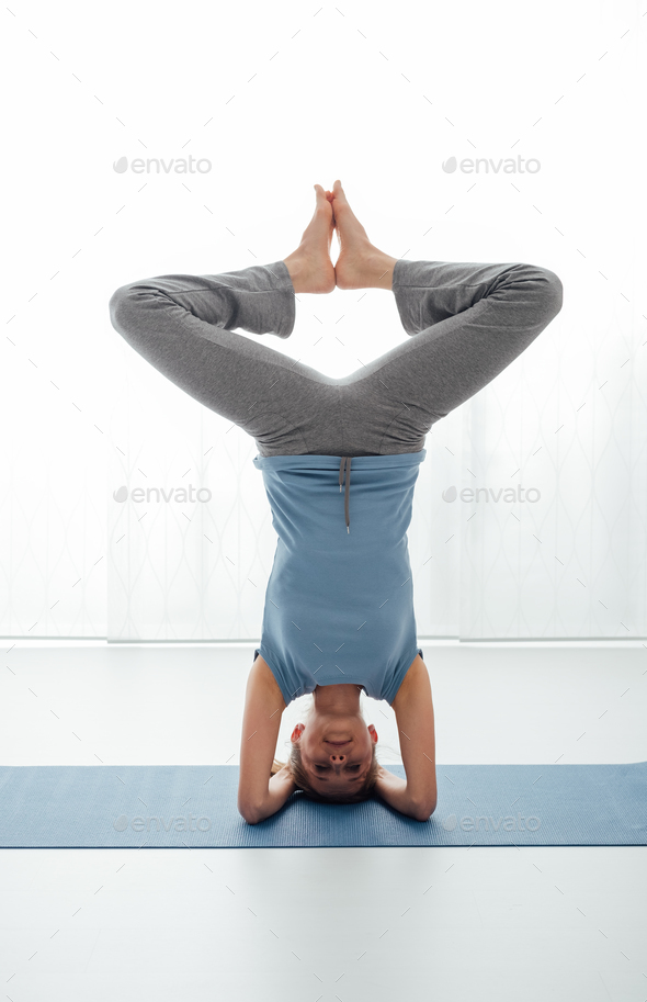 Yoga workout - Stock Photo - Images