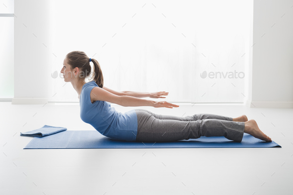 Yoga pose - Stock Photo - Images