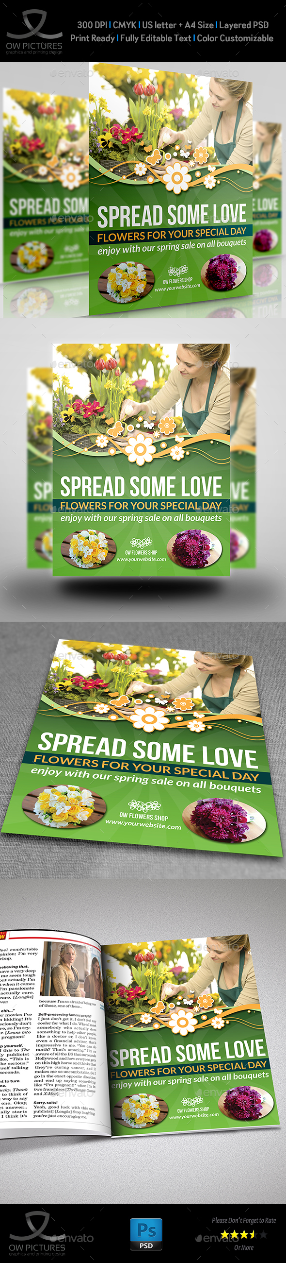 Flowers Shop Flyer Template - Commerce Flyers