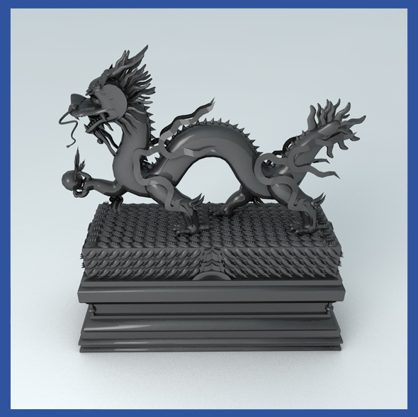 Dragon Statue  - 3DOcean Item for Sale