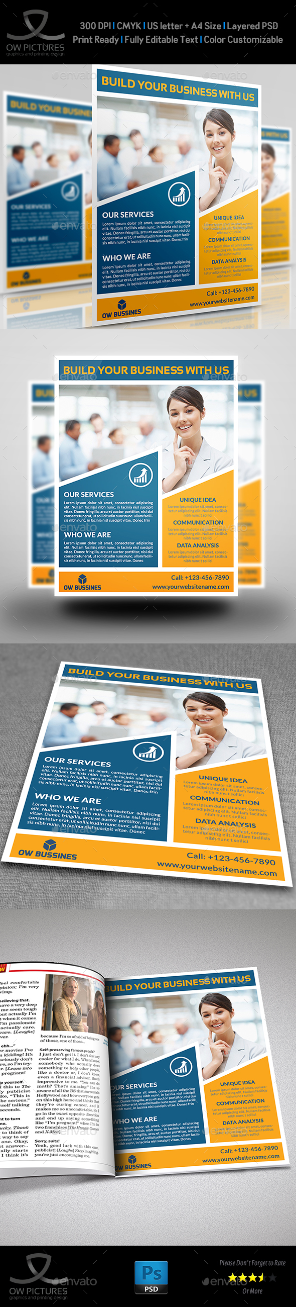 Corporate Business Flyer Template Vol.20 - Corporate Flyers