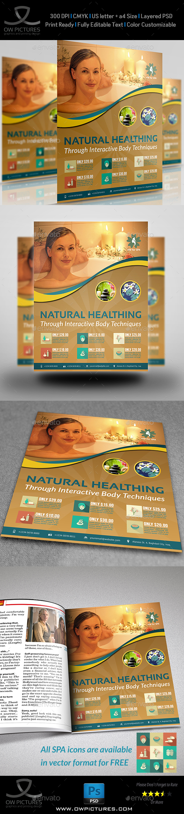 SPA Beauty Flyer Template Vol.2 - Flyers Print Templates