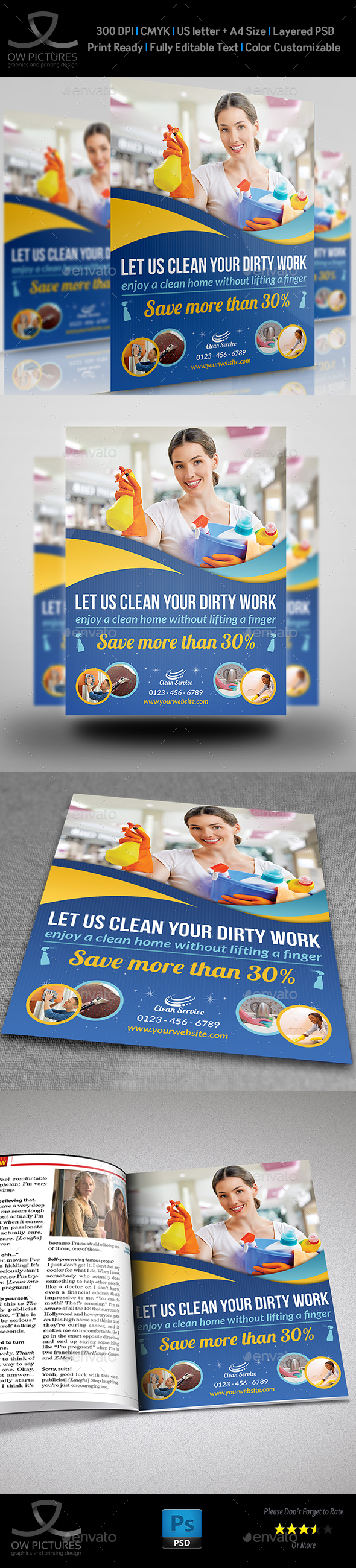 Cleaning Services Flyer Template Vol2 - Commerce Flyers