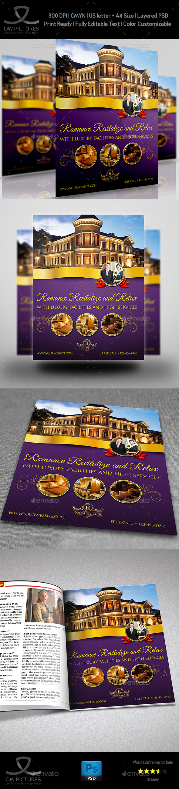 Hotel Flyer Template - Commerce Flyers