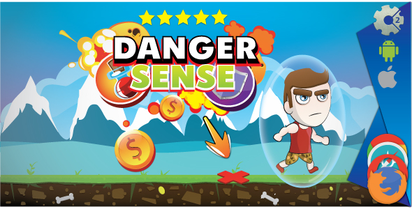 Danger sense - HTML5 game. Construct 2 (.capx) - CodeCanyon Item for Sale