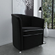 Black velvet armchair - 3DOcean Item for Sale