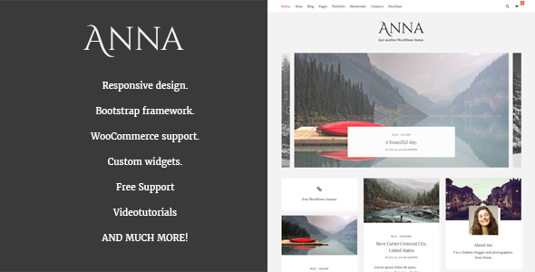Anna – Clean WordPress blog and Shop theme.