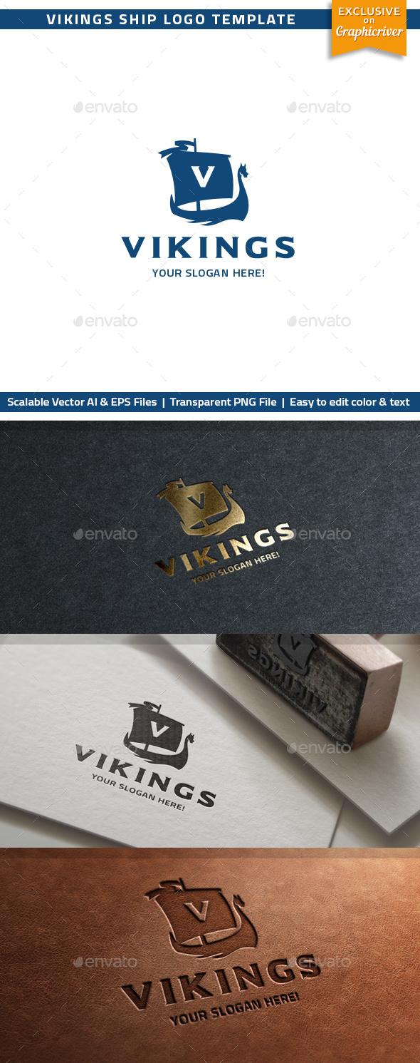 Vikings Ship Logo - Objects Logo Templates