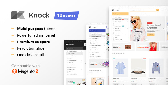 Knock - Multi-Purpose Responsive Magento 2 and Magento 1 Theme