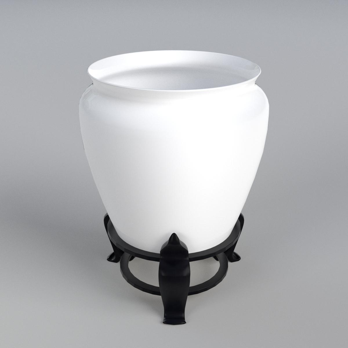 Vase on a holder