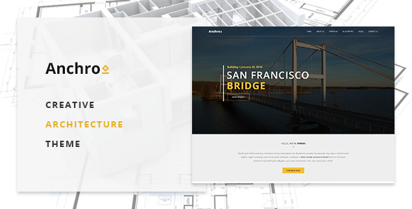 Anchro – Creative Architecture WordPress Theme