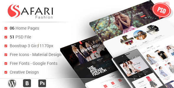 Safari – Multipurpose PSD Template
