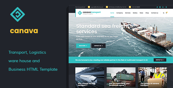 Canava – Logistics and Business HTML Template