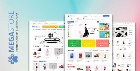 Mega Store - Super Market RTL Responsive WooCommerce WordPress Theme