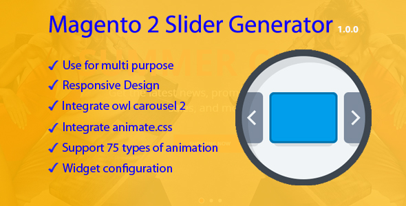 Magento 2 Slider Generator - CodeCanyon Item for Sale