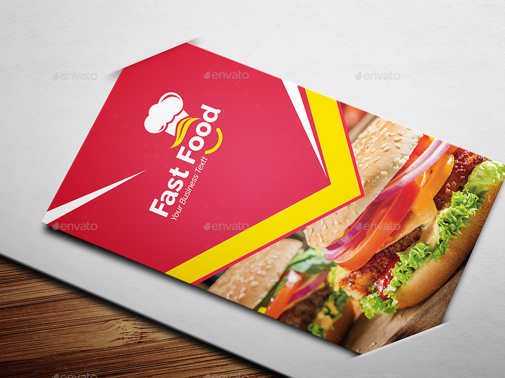 Fast food business card by generousart graphicriver fast food business card colourmoves