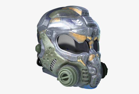 Space marine helmet - 3DOcean Item for Sale