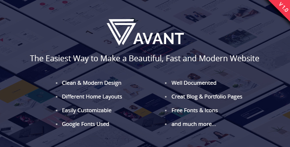 Avant - Creative & Multipurpose - Creative PSD Templates