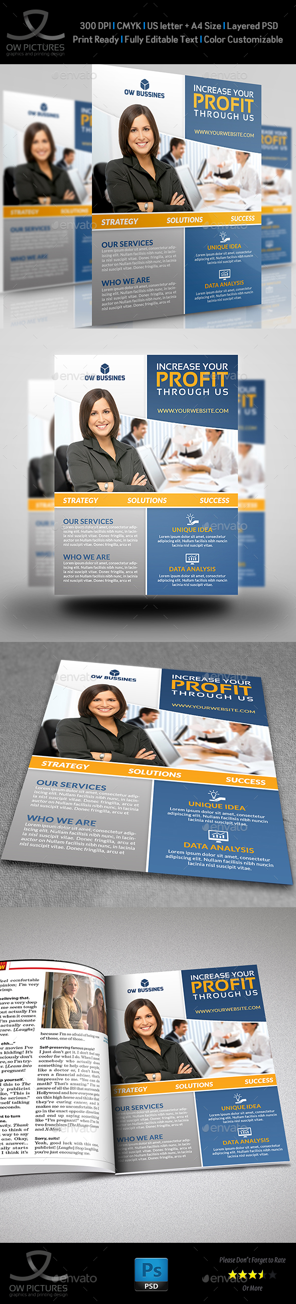 Corporate Business Flyer Template Vol.18 - Corporate Flyers