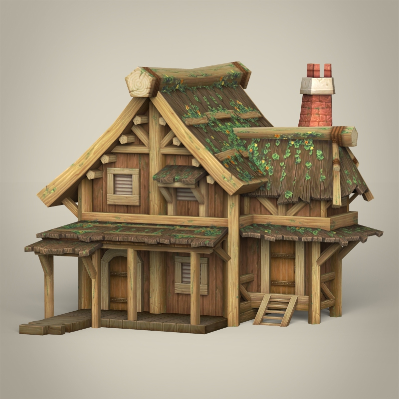 Game Ready Wooden House By Gamingarts 3docean