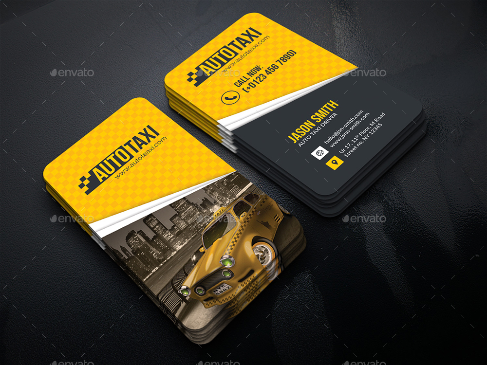 Auto Taxi Business Card by generousart | GraphicRiver