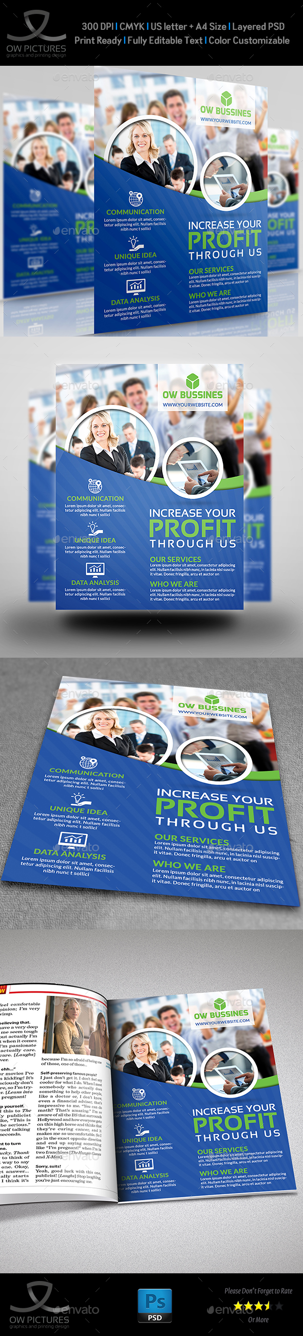 Corporate Business Flyer Template Vol.16 - Corporate Flyers