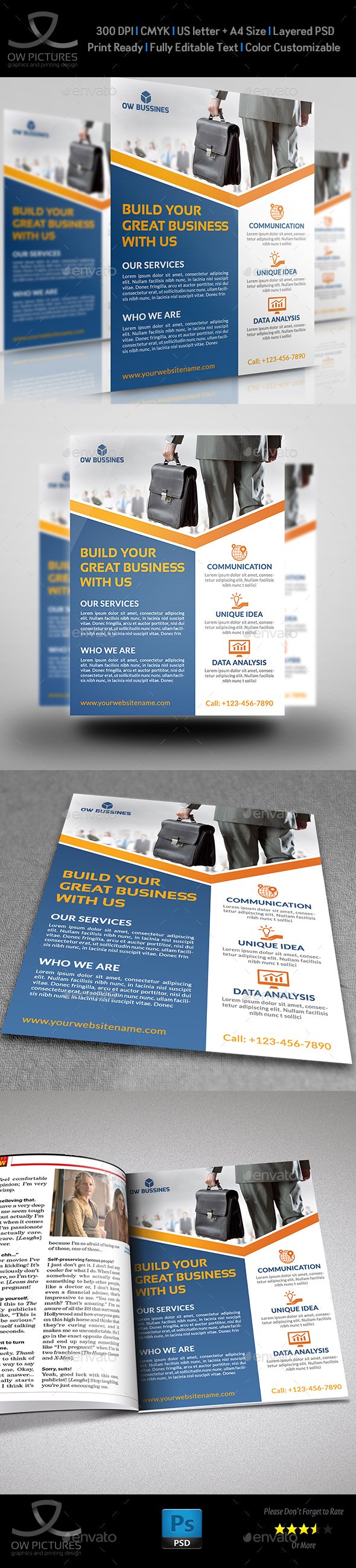 Corporate Business Flyer Template Vol.15 - Corporate Flyers