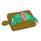 Cartoon Fish on Wooden Cutting Board - GraphicRiver Item for Sale