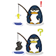 Cartoon Little Penguins with Fishing Fod - GraphicRiver Item for Sale
