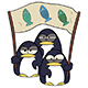 Cartoon Penguins with Banner - GraphicRiver Item for Sale
