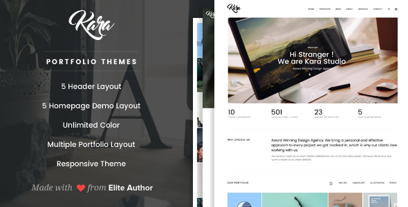 Kara – Simple Portfolio WordPress Theme