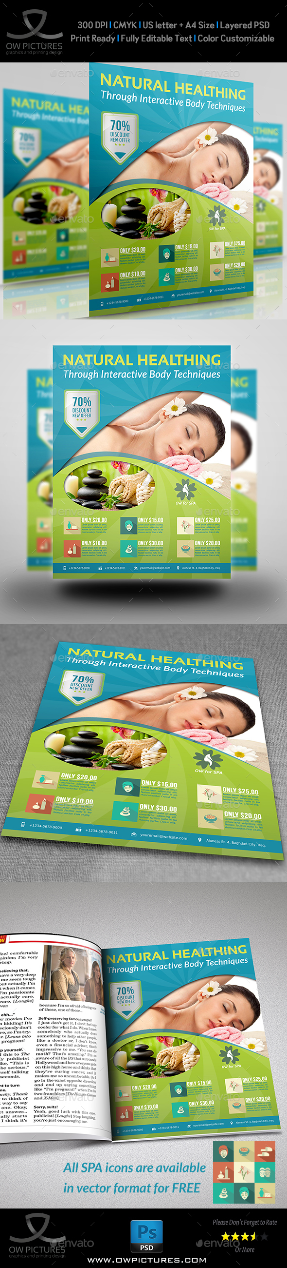 SPA Beauty Flyer Template - Commerce Flyers
