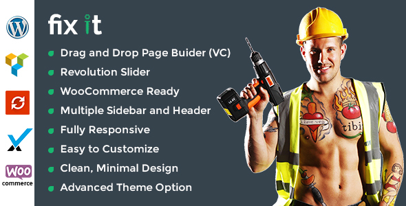 Fixit Construction – Construction WordPress Theme