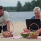 Woman With Laptop Working On The Beach - VideoHive Item for Sale