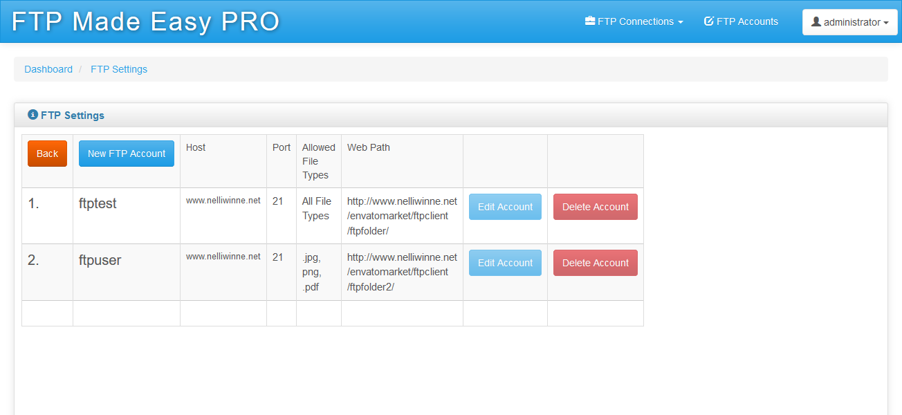 FTP Made Easy PRO - PHP Multiple FTP Manager, Client with Code Editor