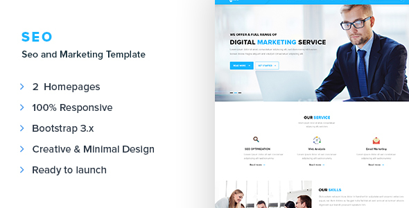 SEO - SEO and Marketing Responsive Template