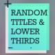 Random Titles  - VideoHive Item for Sale