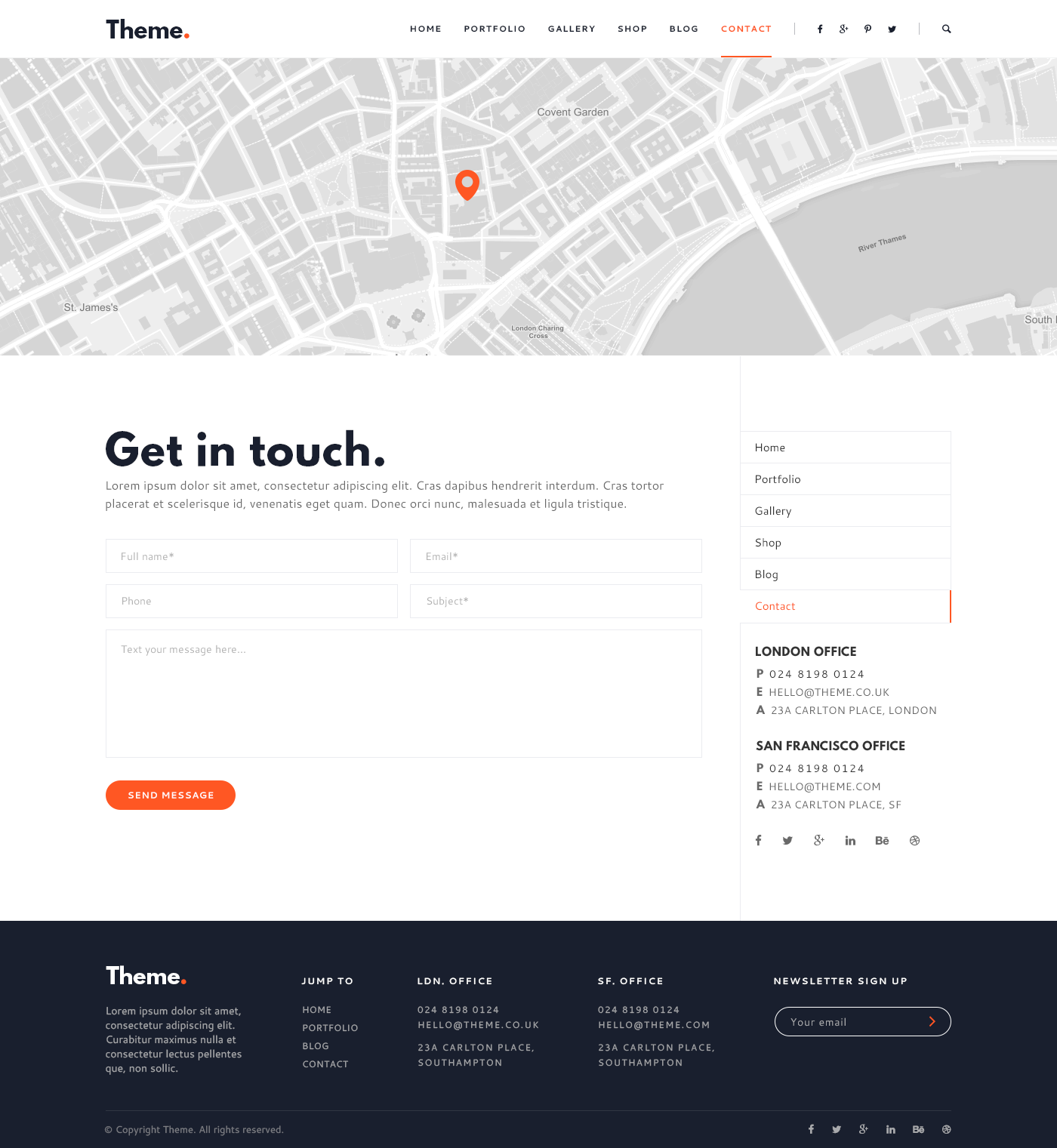 Theme Point   Creative Multipurpose HTML Template  Point Of Contact Template