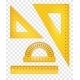 Yellow Rulers and Triangle Set - GraphicRiver Item for Sale