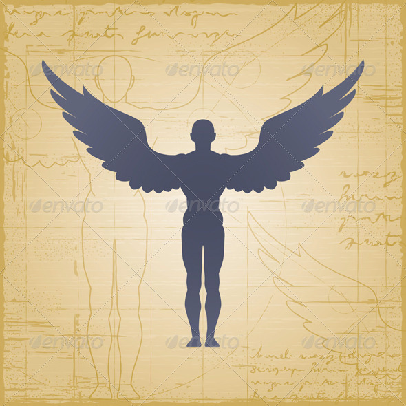 Winged Man - People Characters
