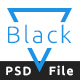 Black Bold One Page PSD Template - ThemeForest Item for Sale