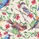 Watercolor Seamless Pattern With Birds  - GraphicRiver Item for Sale
